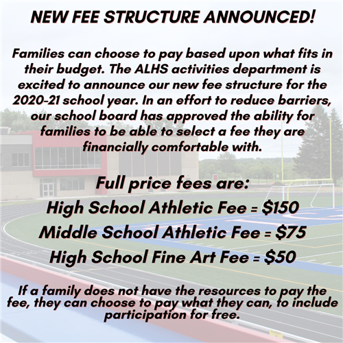 New Fee Structure Info
